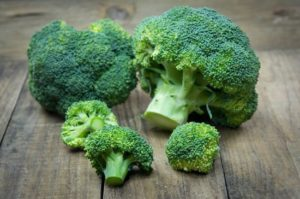 Broccoli is high in Vitamin B1, B6, E and contains over 107% of your DV of Vitamin C in a half cup (cooked) serving.